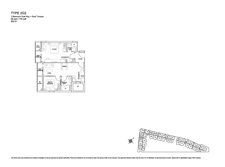 Kensington Square 2 Bedroom Dual Key Floor Plans Type 2G2
