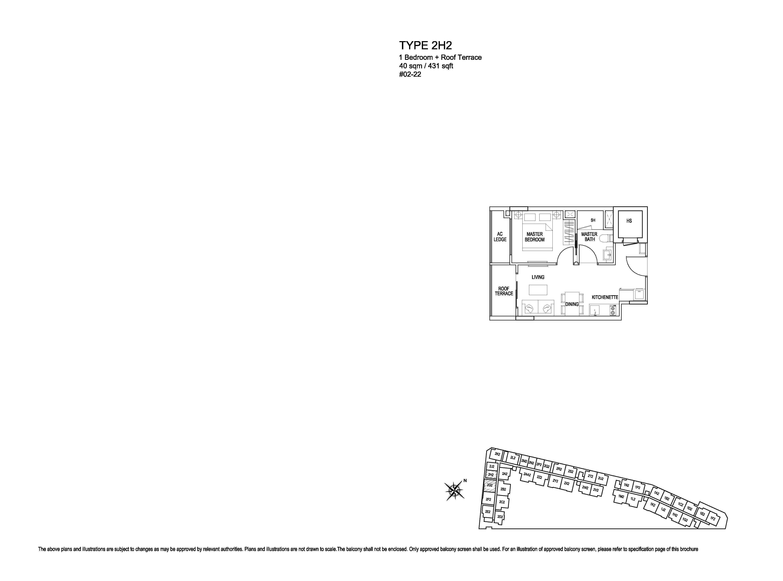 Kensington Square 1 Bedroom Floor Plans Type 2H2