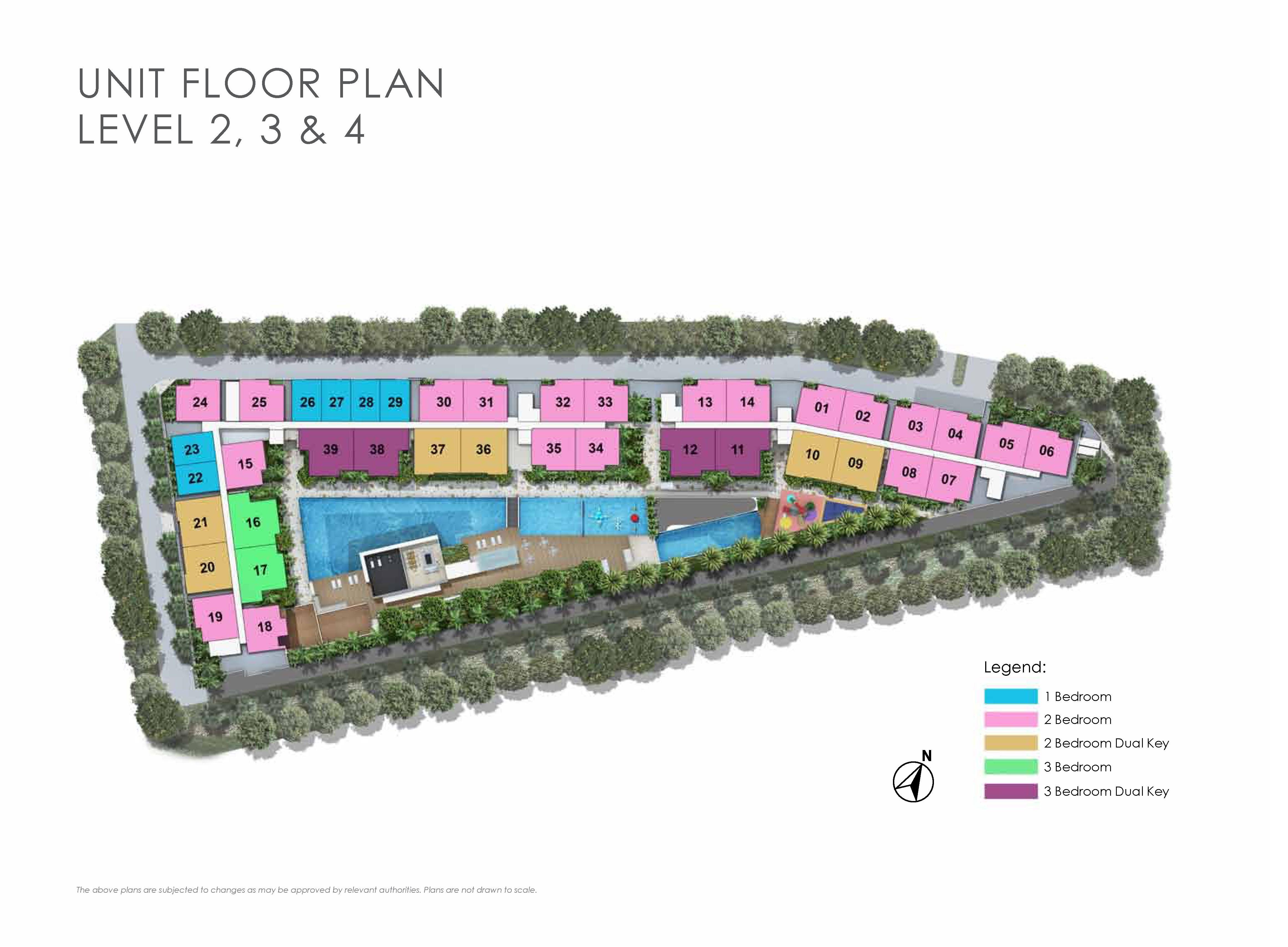 Kensington Square Unit Floor Plan Site Map
