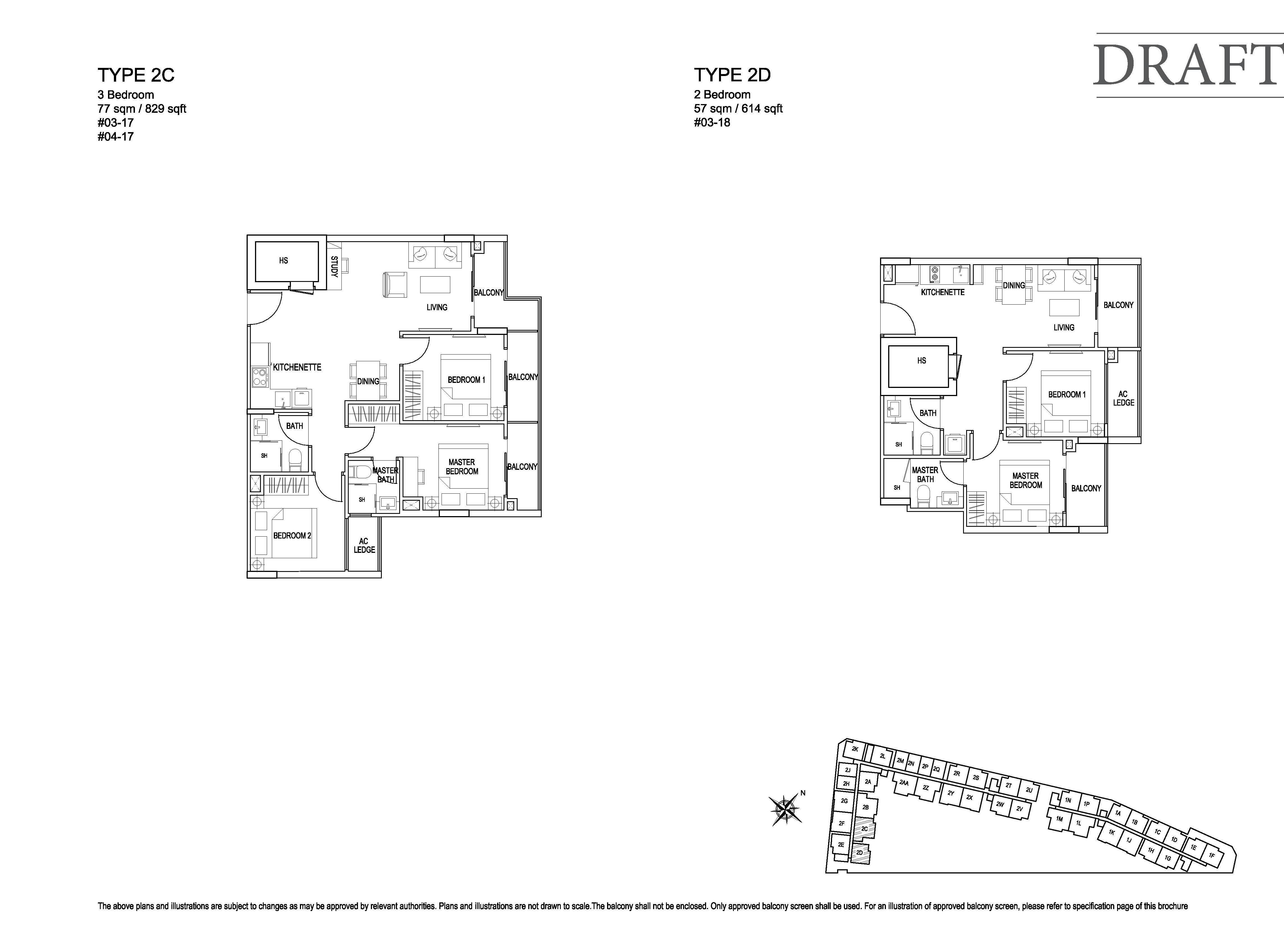 Kensington Square 3 Bedroom Floor Plans Type Type 2C