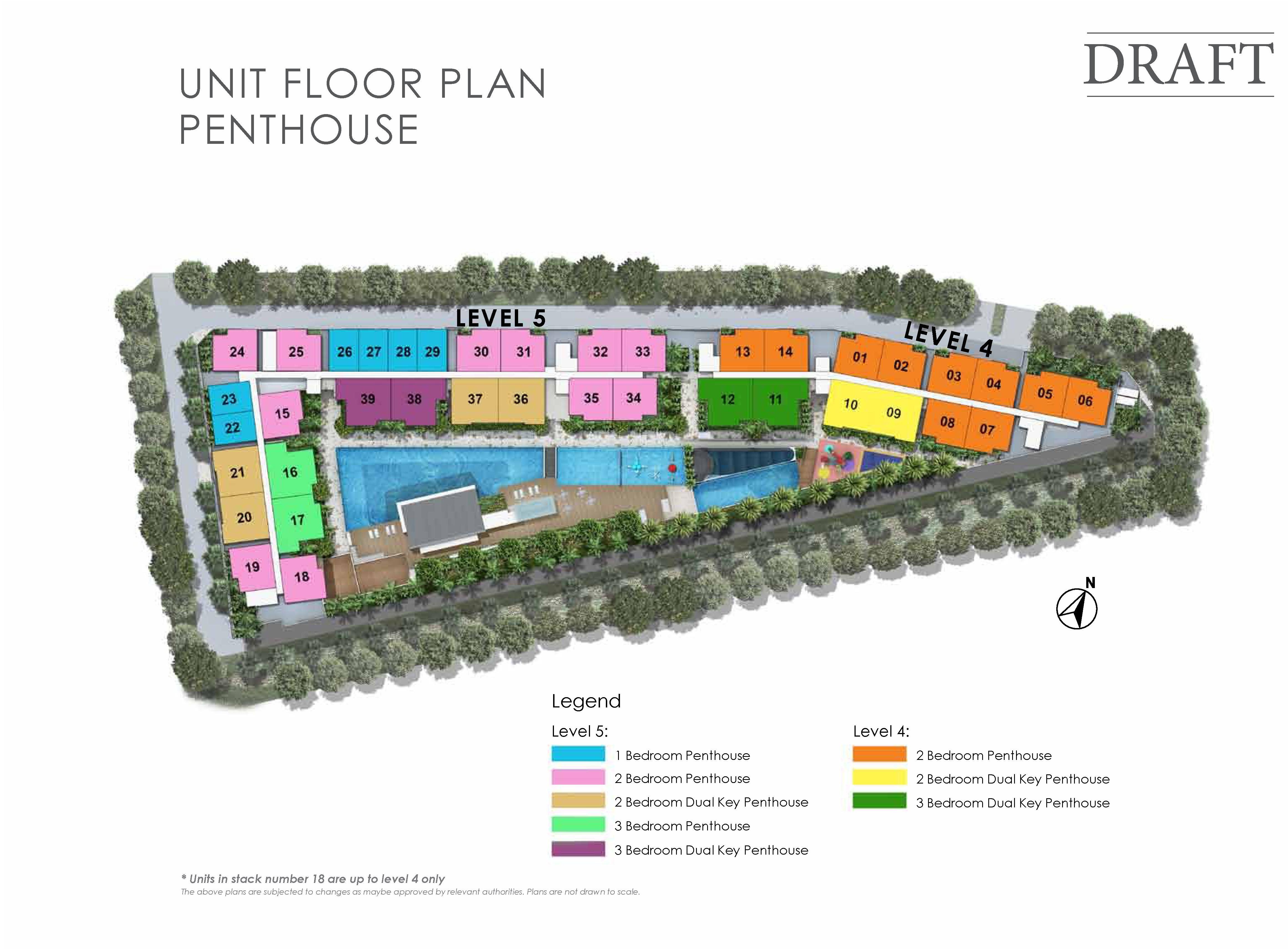 Kensington Square Penthouse Unit Floor Plan Site Map
