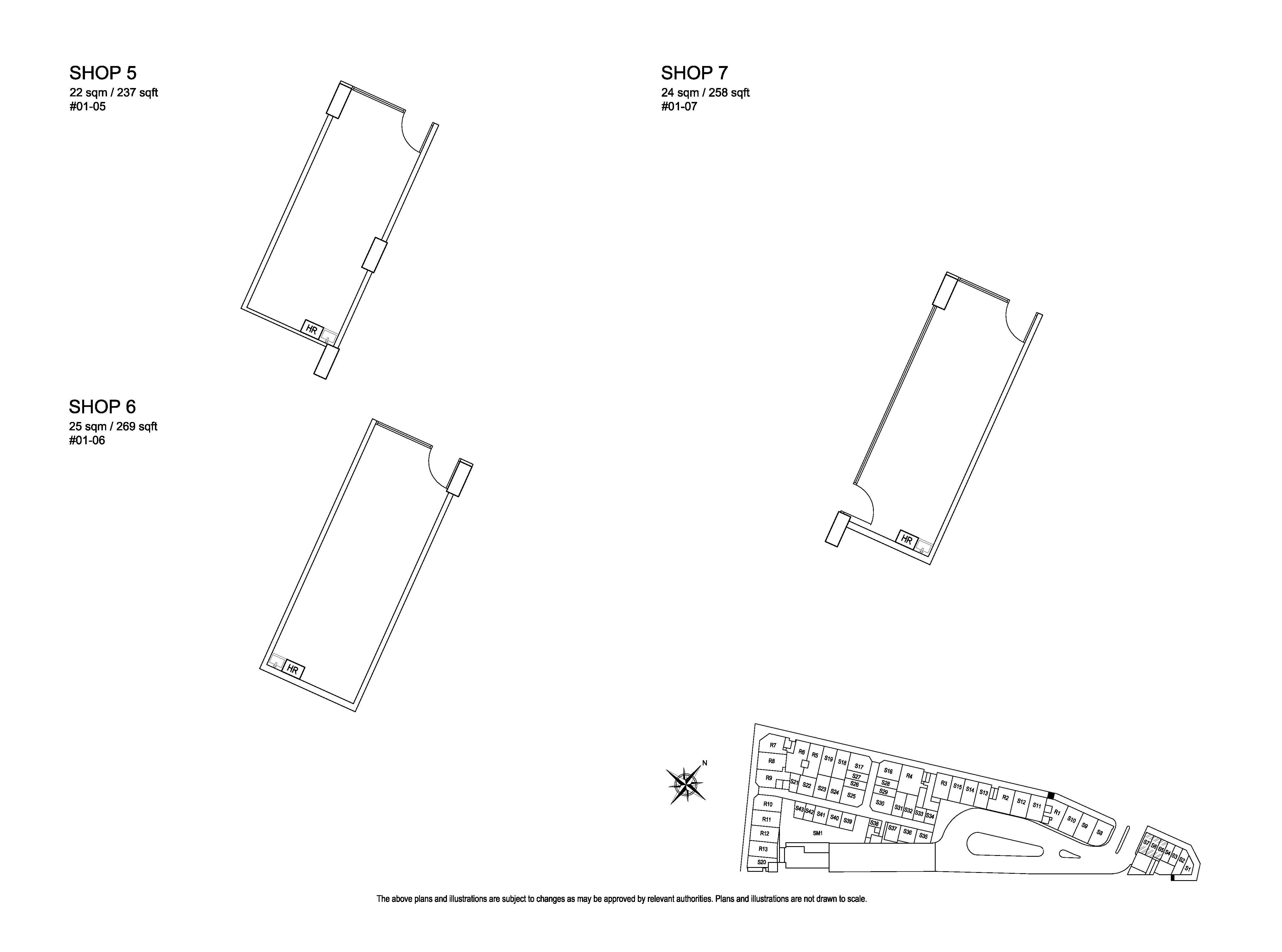 Kensington Square Retail Shop 5,6,7 Floor Plans