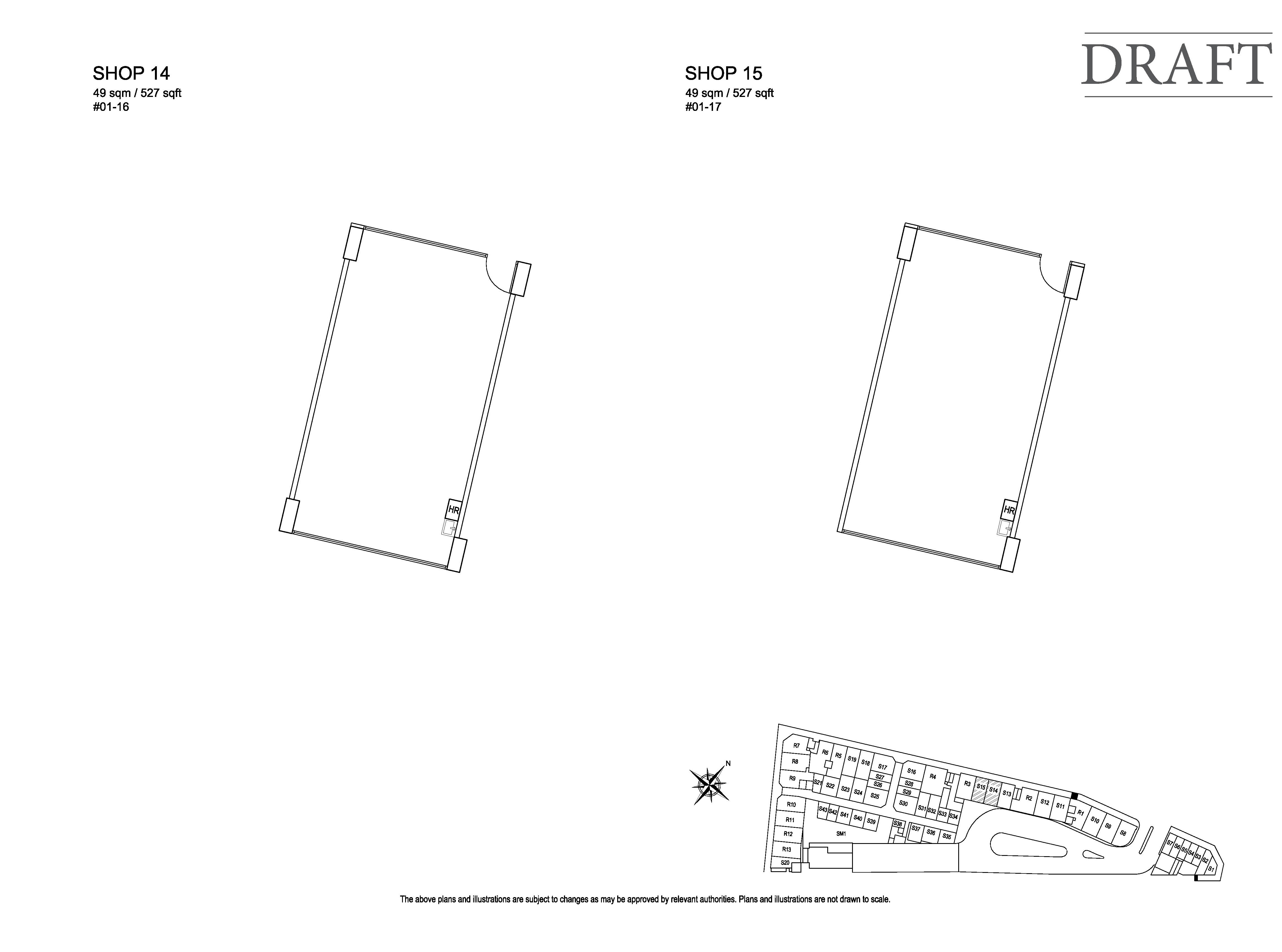 Kensington Square Retail Shop 14,15 Floor Plans