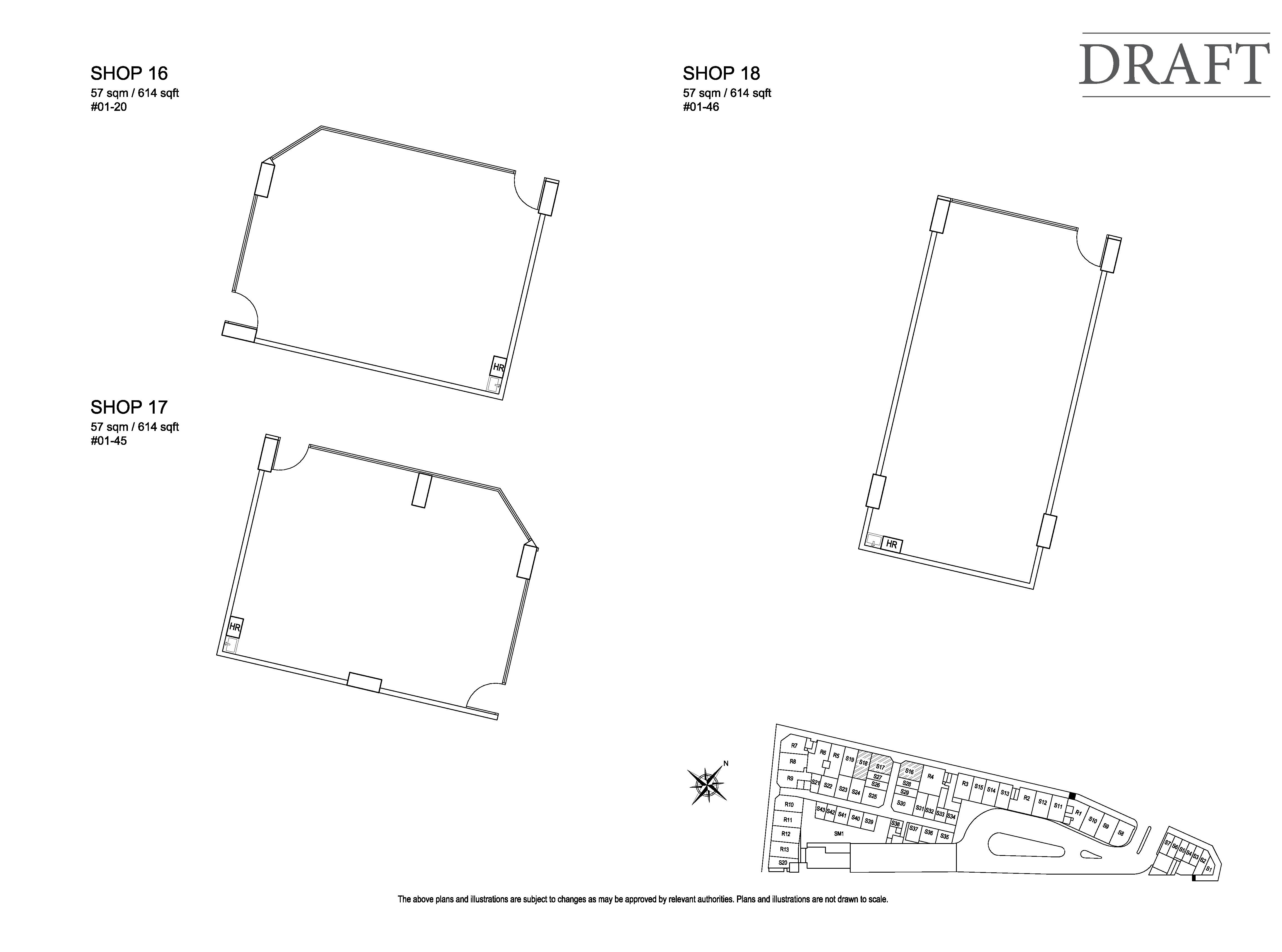 Kensington Square Shop 16,17,18 Floor Plans