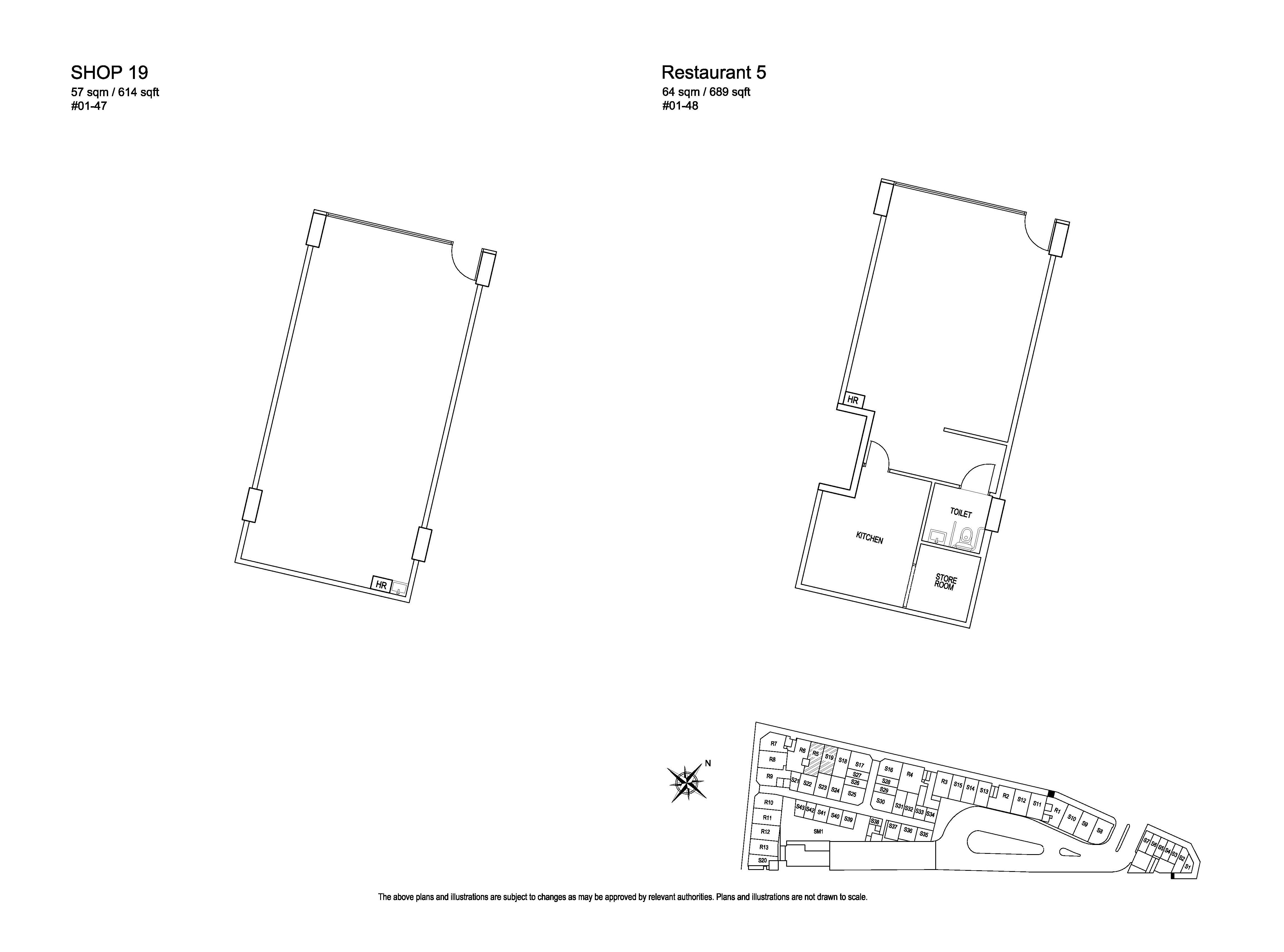 Kensington Square Shop 19, Restaurant 5 Floor Plans