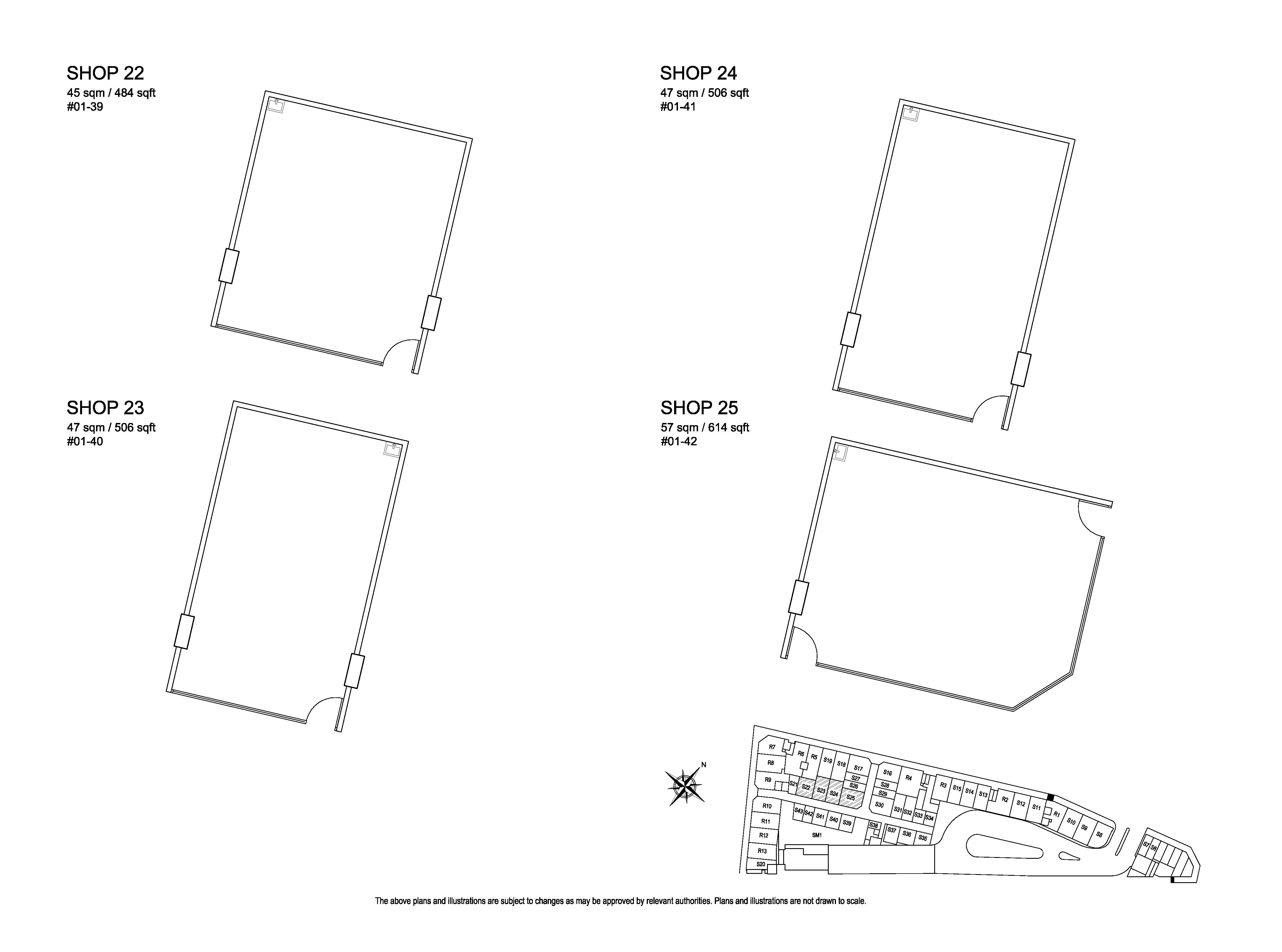 Kensington Square Shop 22,23,24,25 Floor Plans