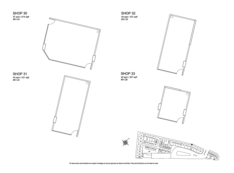 Kensington Square Shop 30,31,32,33 Floor Plans