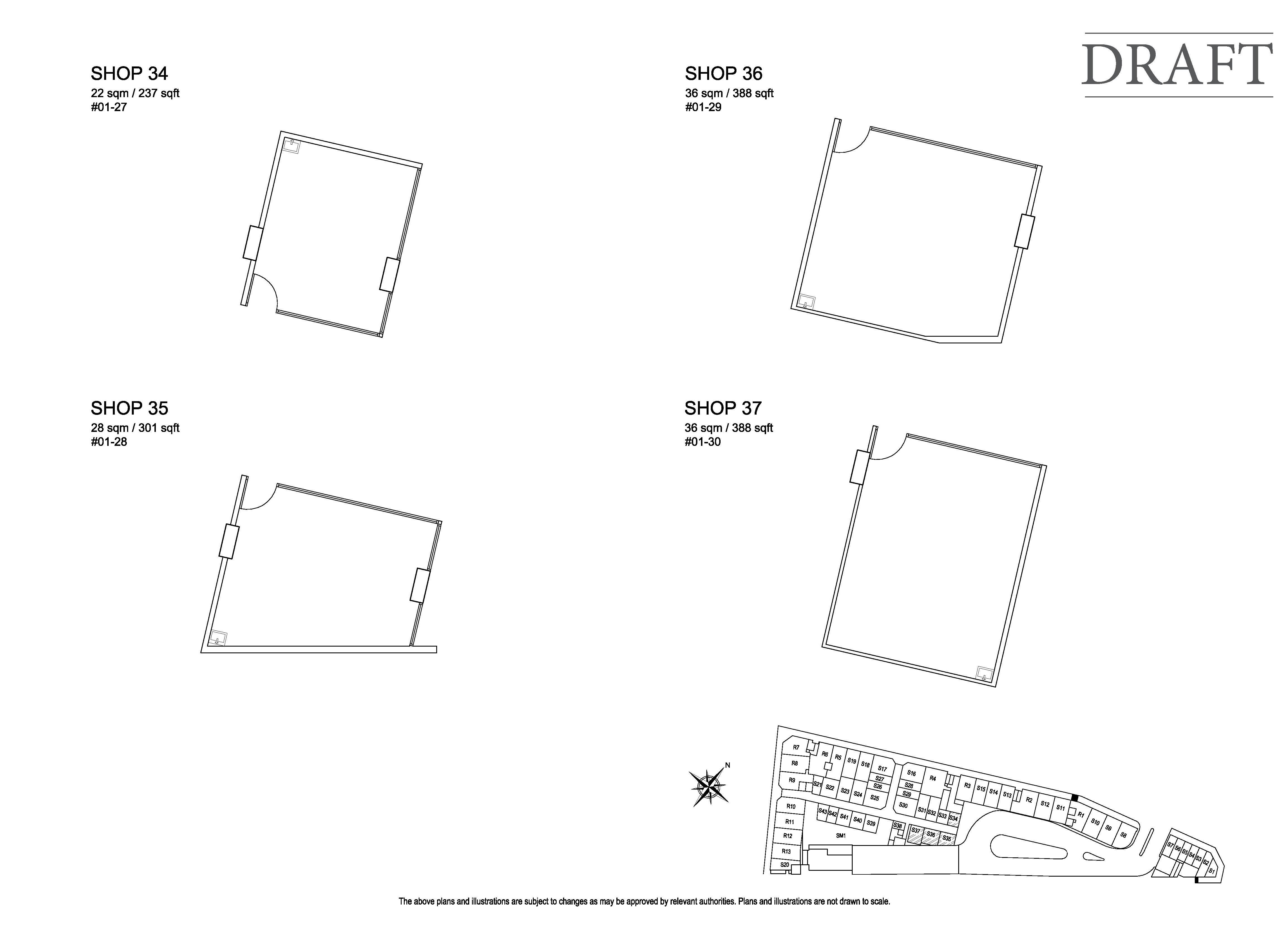 Kensington Square Shop 34,35,36,37 Floor Plans