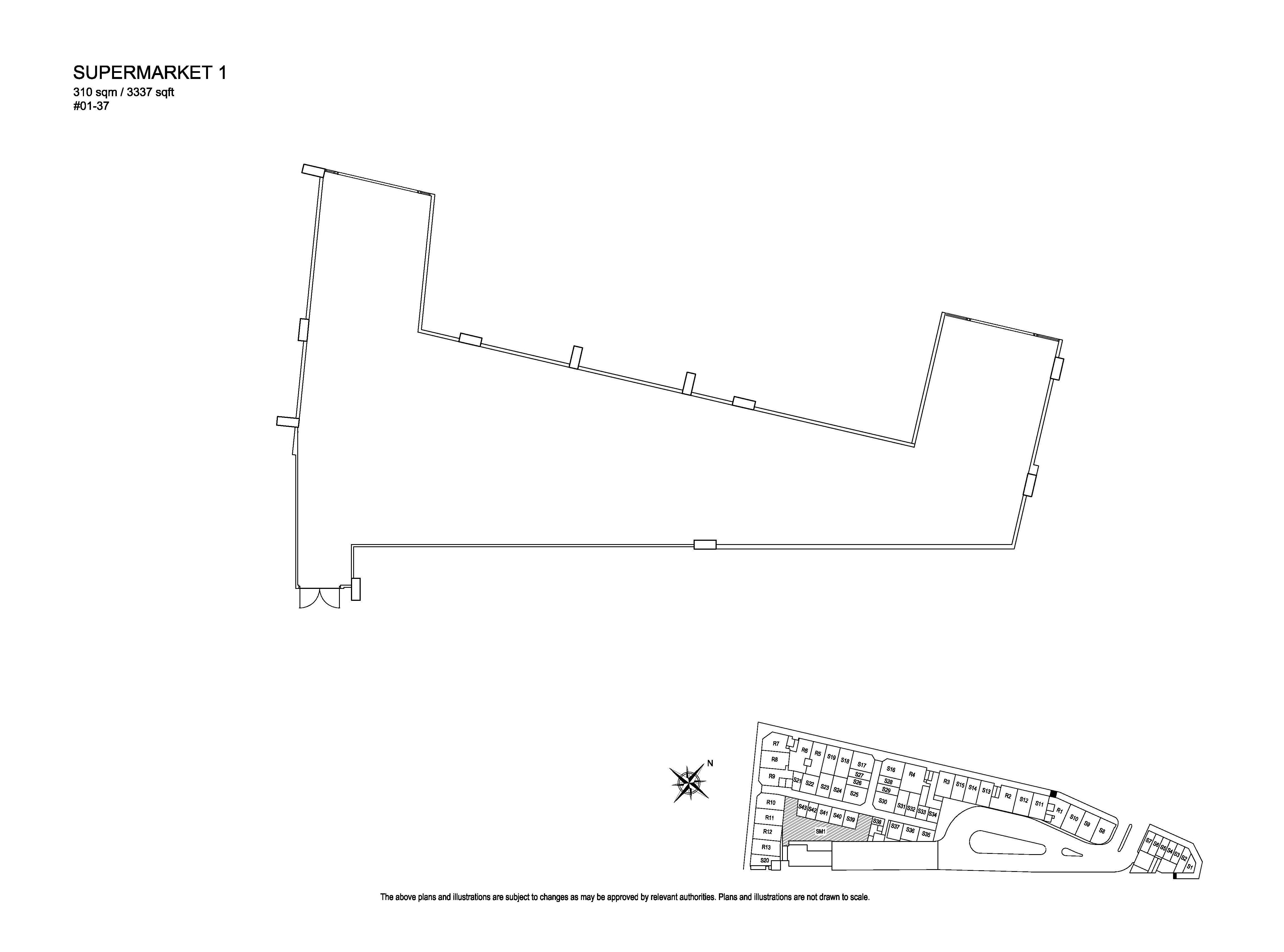 Kensington Square Supermarket 1 Floor Plans